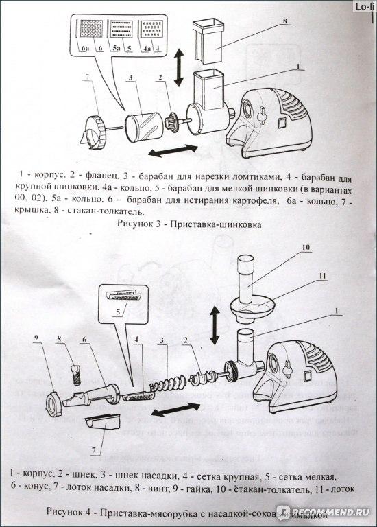 электрическая схема электромясорубка помощница