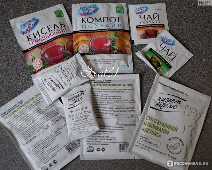 программа питания на день для похудения