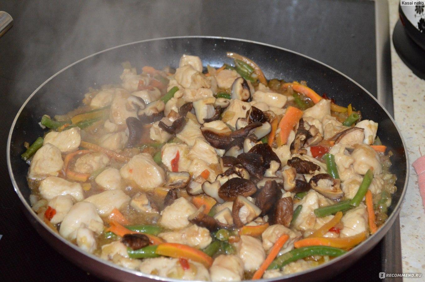 Грибы шампиньоны жареные с луком рецепт пошагово