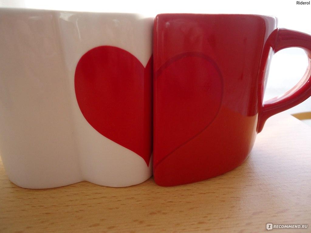 чашка набор влюбленные сердца