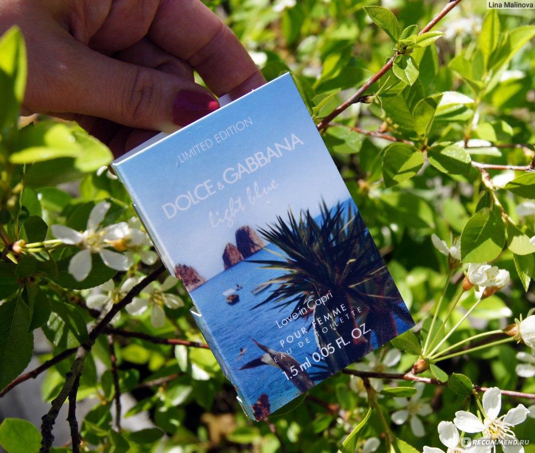 Dolce Amp Gabbana Light Blue Love In Capri 171 Любовь на