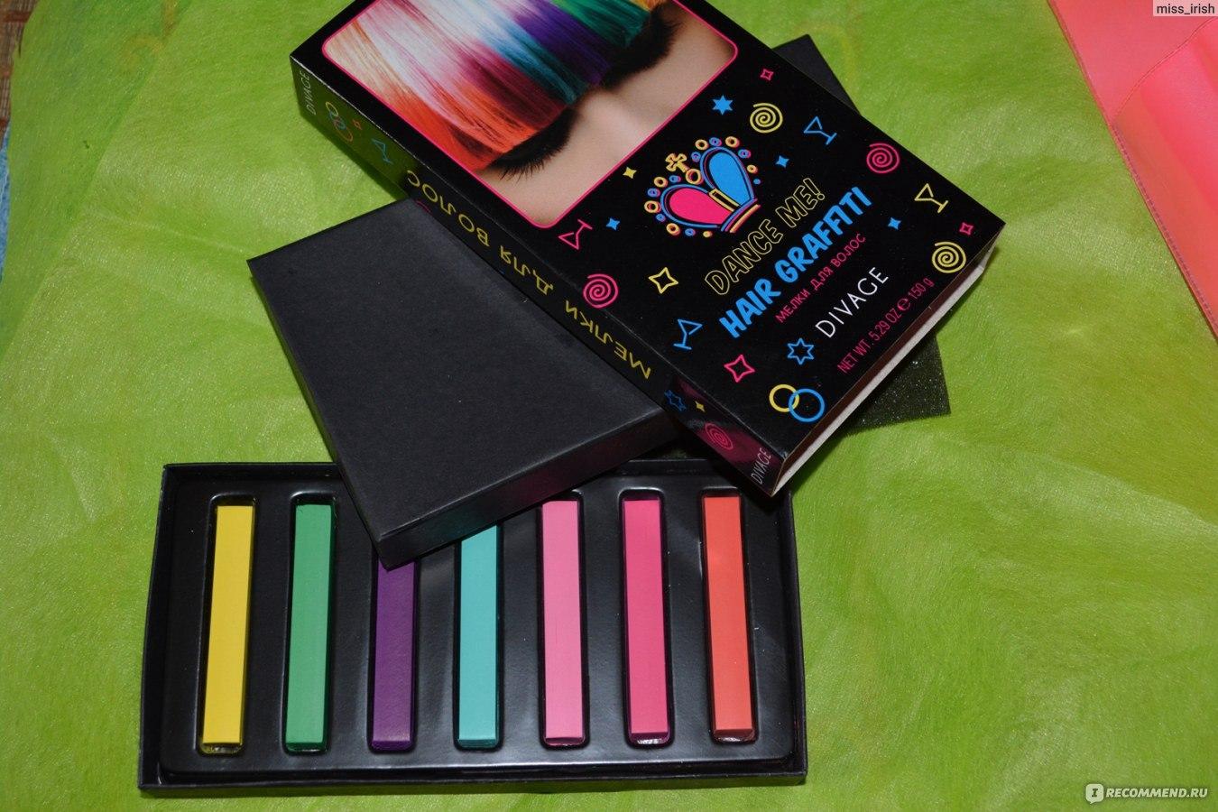 Как сделать цветные пряди цветные мелки 20