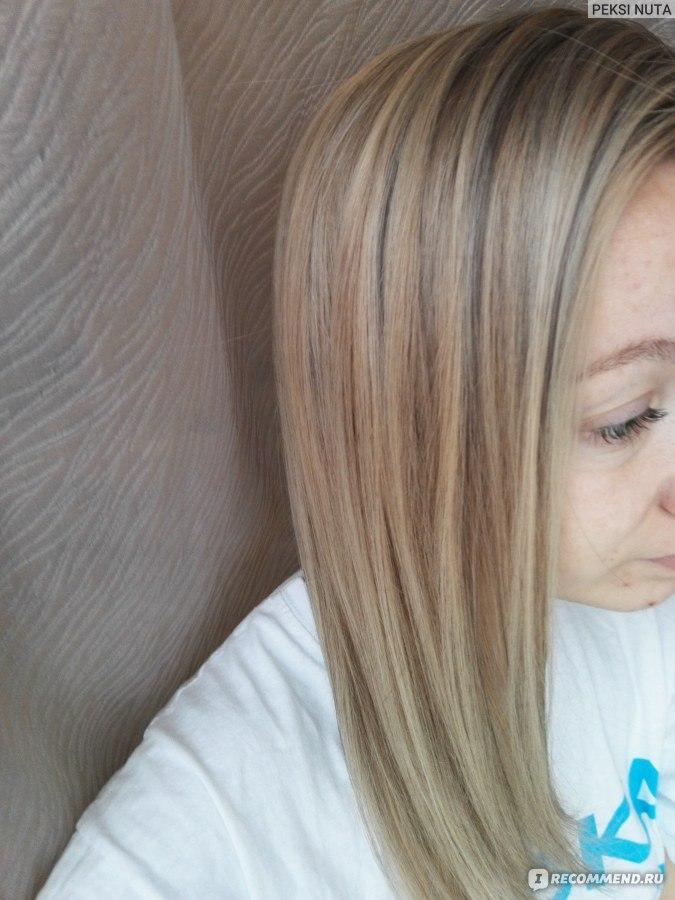 Русое мелирование на блонд
