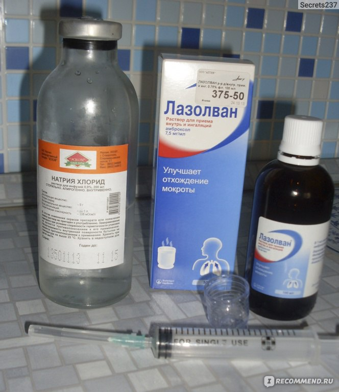 Препараты используемые в небулайзерах