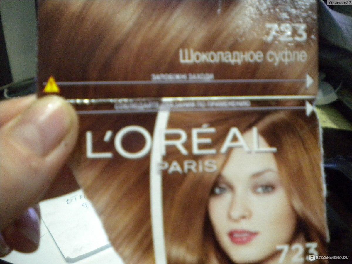 Лореаль крем глосс краска для волос палитра