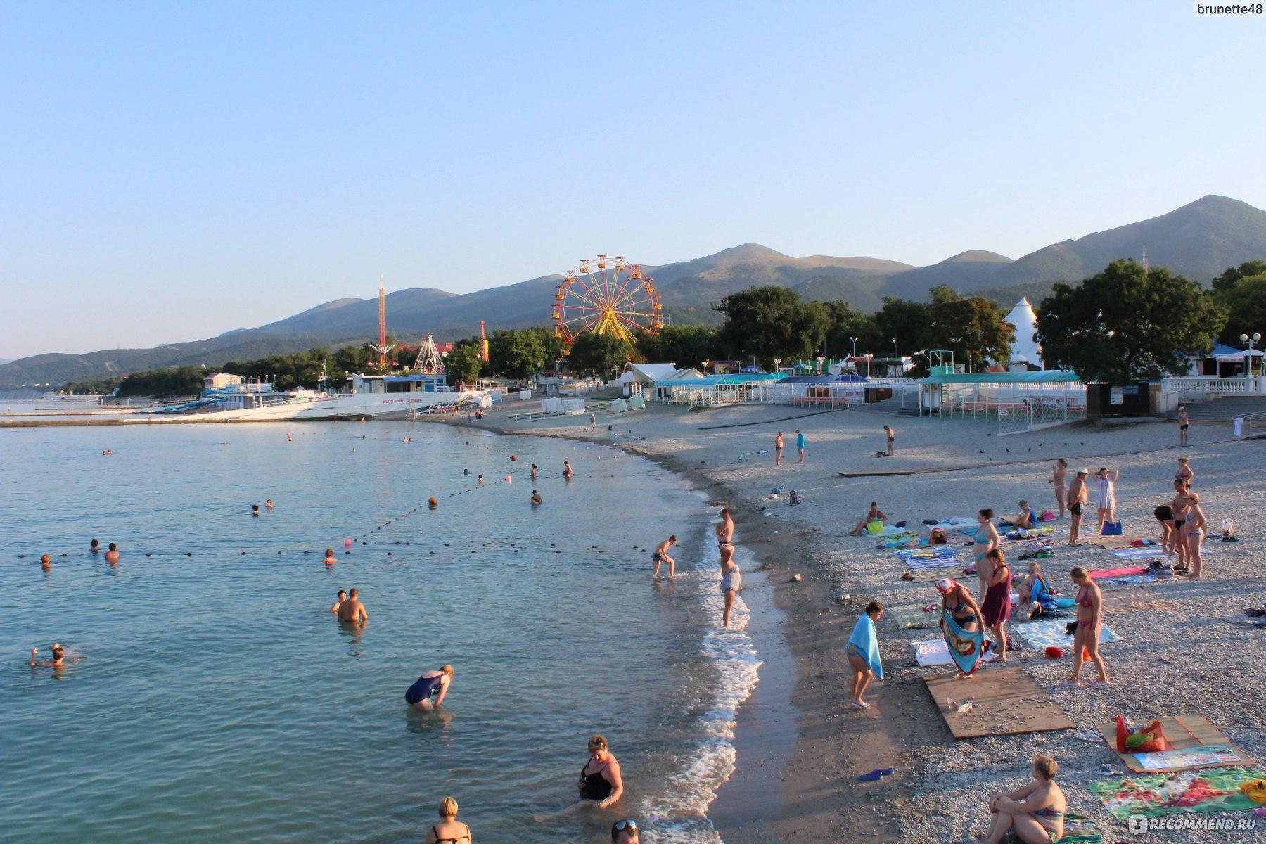 Фото центрального пляжа кабардинки