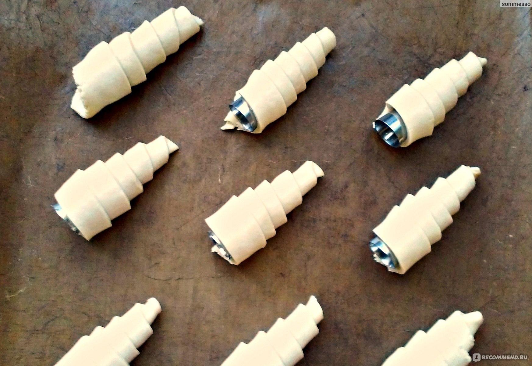 Как сделать конус для слоеных трубочек фото