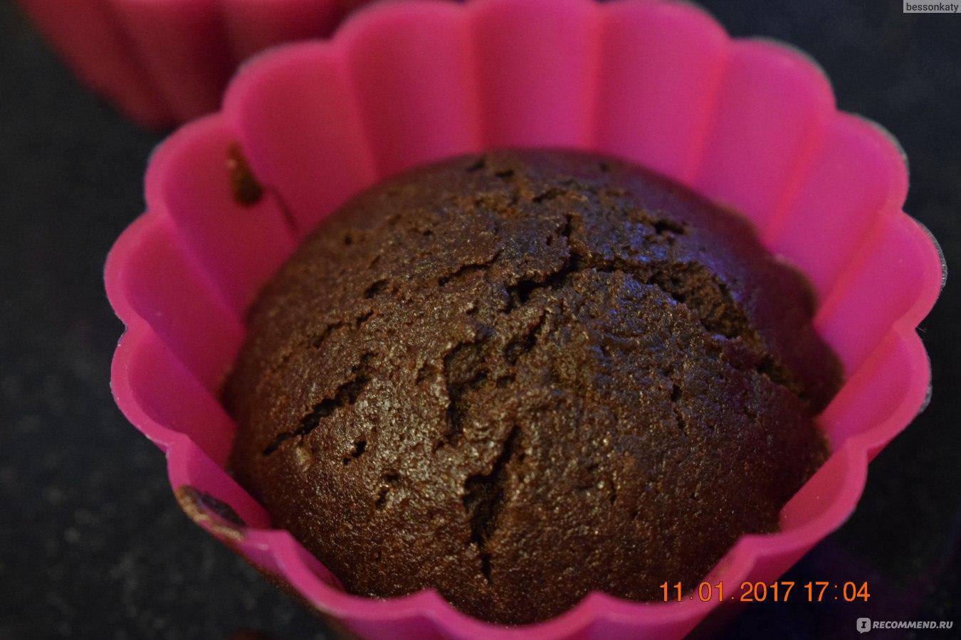 Кексы шоколадные в силиконовых формочках рецепты пошагово