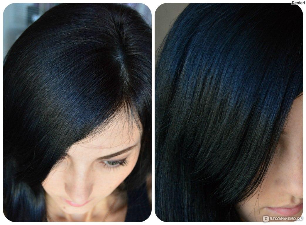 Чёрные волосы в домашних условиях 963