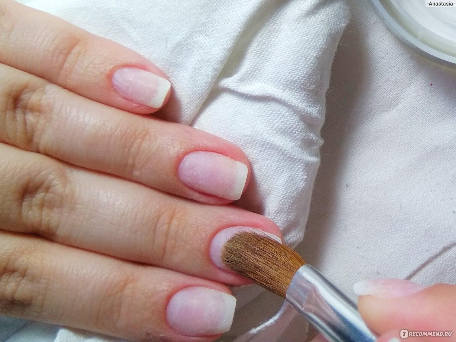 Как выглядит акриловая пудра для ногтей фото