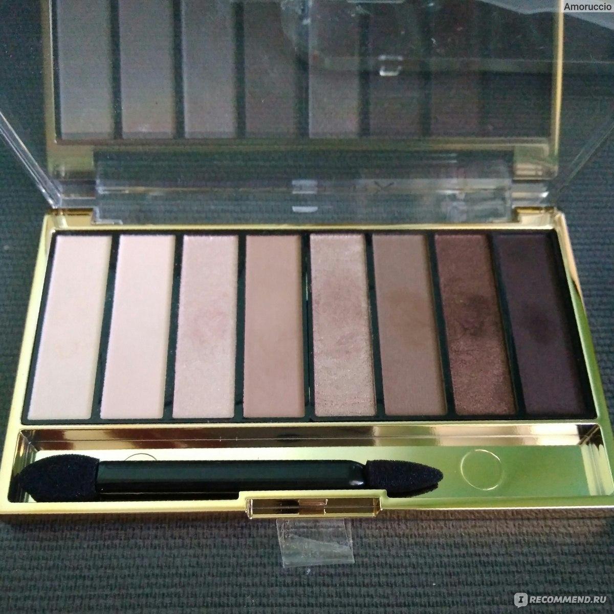 Палитра теней Max Factor Masterpiece nude palette - «Тени