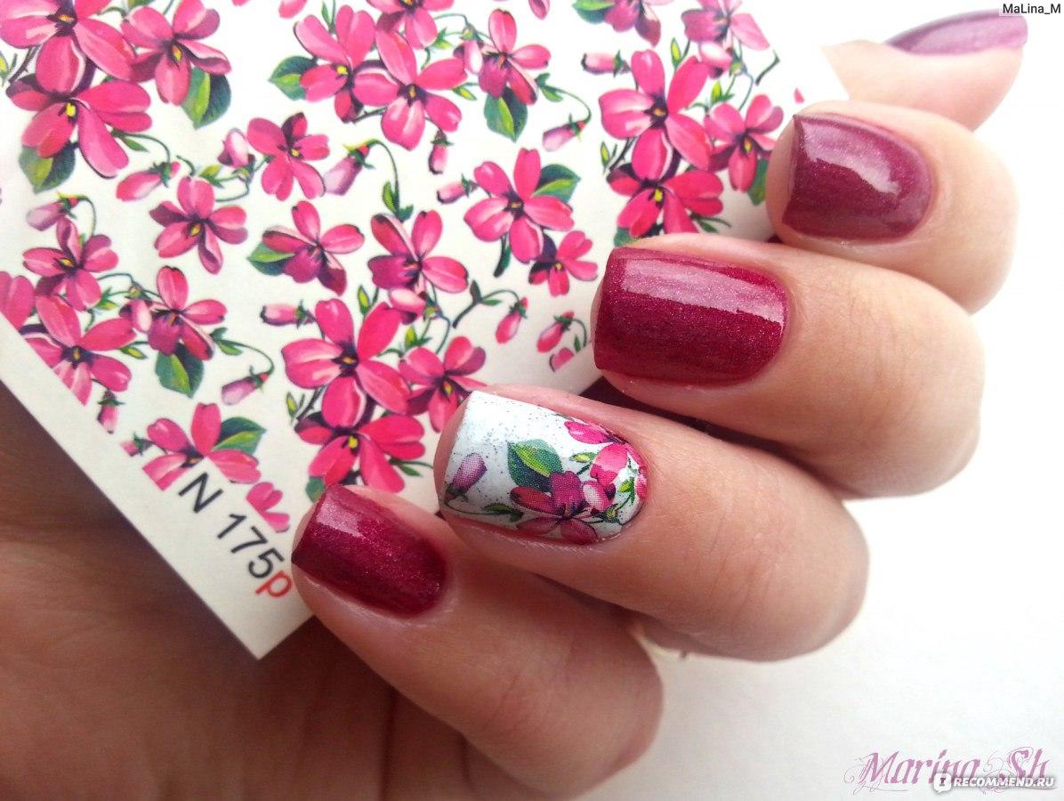 Как сделать ногти с наклейками