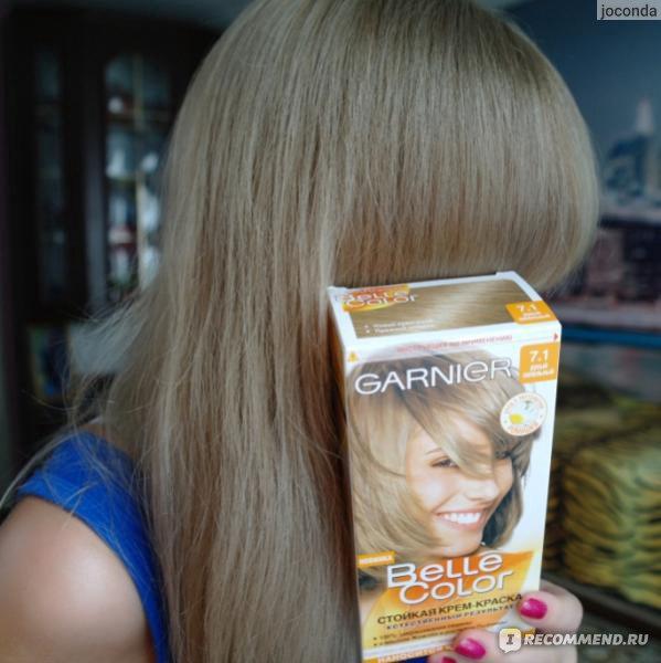 Гарньер краска для волос палитра 7.1
