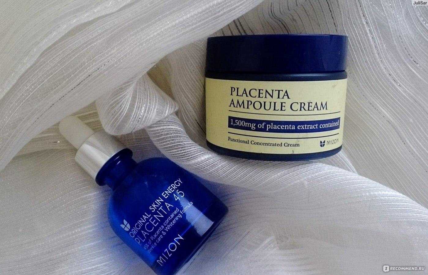 Картинки по запросу mizon placenta ampoule cream