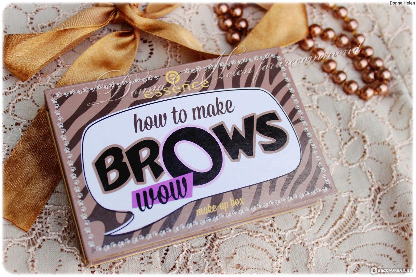 Essence набор для макияжа бровей how to make brows wow отзывы