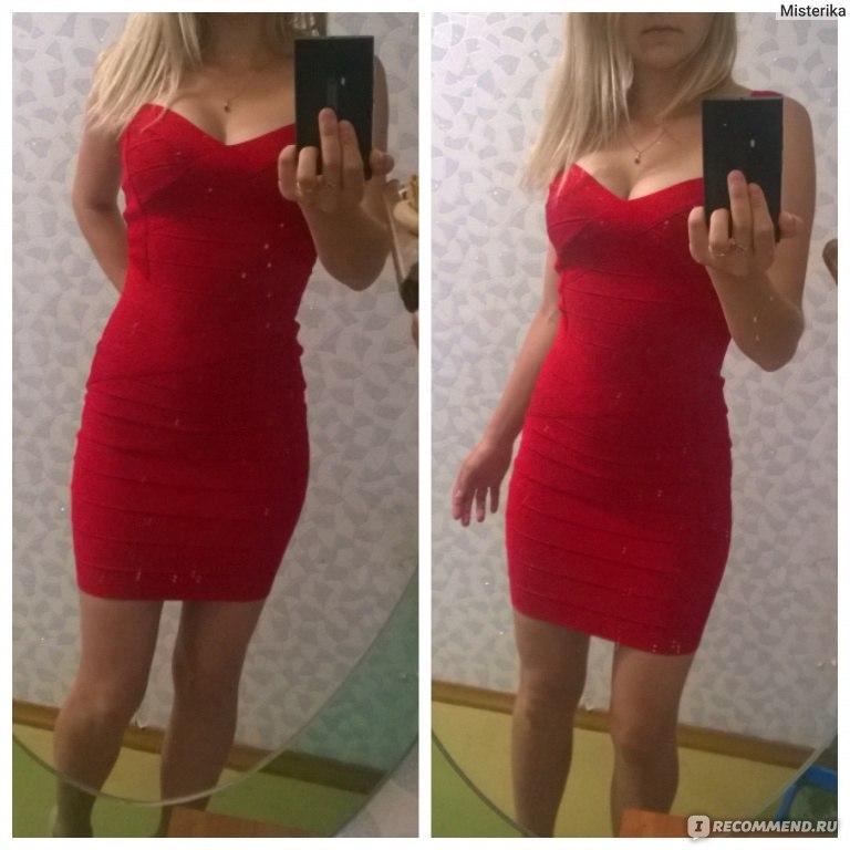 0af38c40bce Платье бандажное AliExpress Women candy Spaghetti Strap Bandage Dress Lady  Mini Dress prom club wear Summer