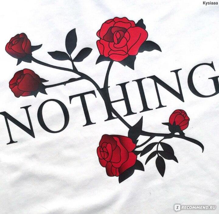 4269e1934d3b08 Футболка AliExpress Nothing Letter Rose Print Female T Shirt Harajuku T-Shirts  Women 2017 New
