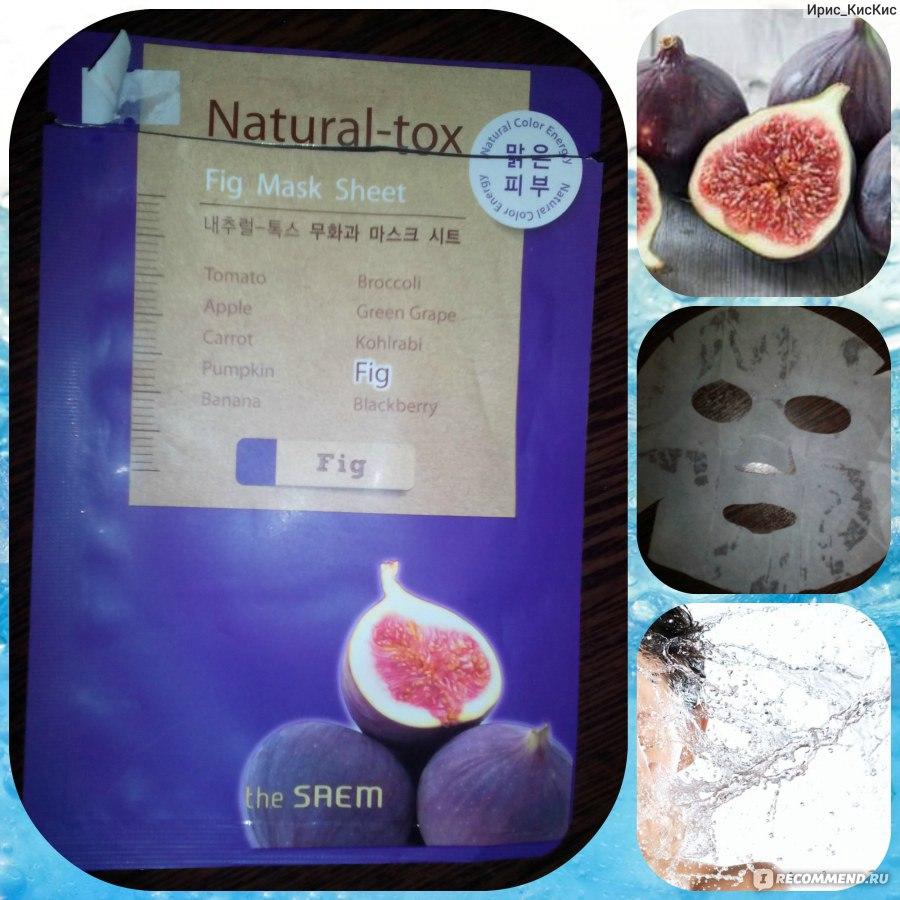 The Saem Natural Tox Fig Mask Sheet Apple