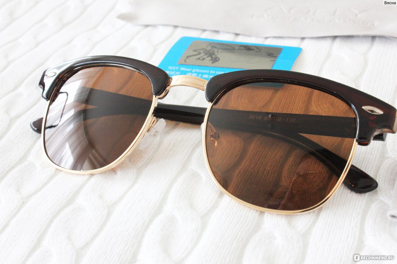 Солнцезащитные очки Aliexpress AOFLY CLASSIC Half Metal Sunglasses ... 81d8247e9a3
