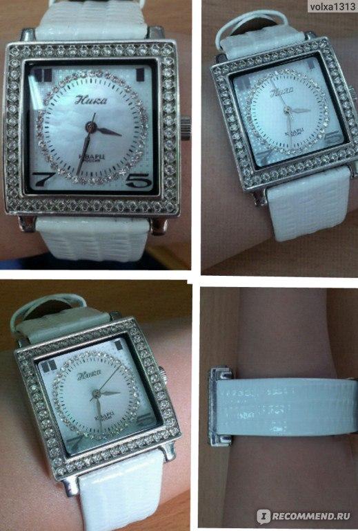 женские серебрянные часы ника