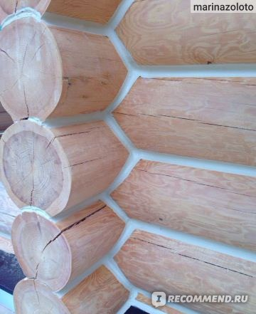 Утепление швов деревянные дома