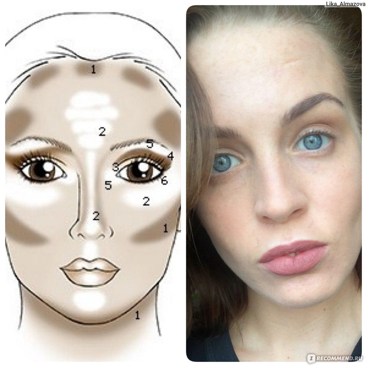 Как сделать макияж на овальное лицо фото