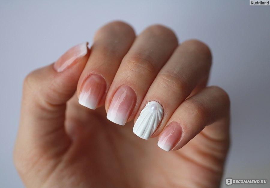 Дизайн на белом гель лаке