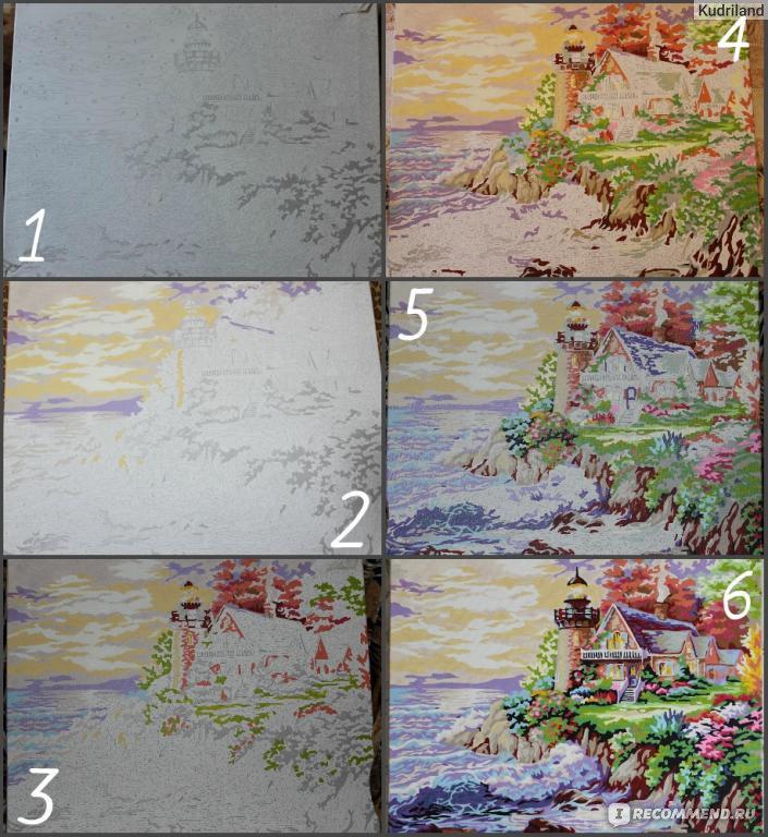 Мастер класс раскраска картин по номерам пошаговая инструкция