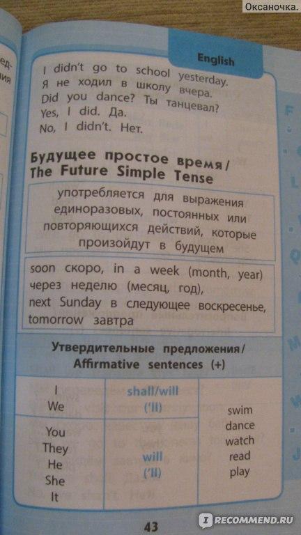 Английский язык в схемах и таблицах 1-4 классы вакуленко