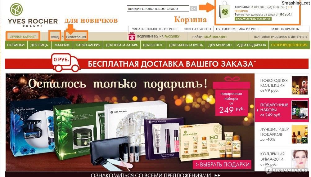 Ив Роше Интернет Магазин Каталог