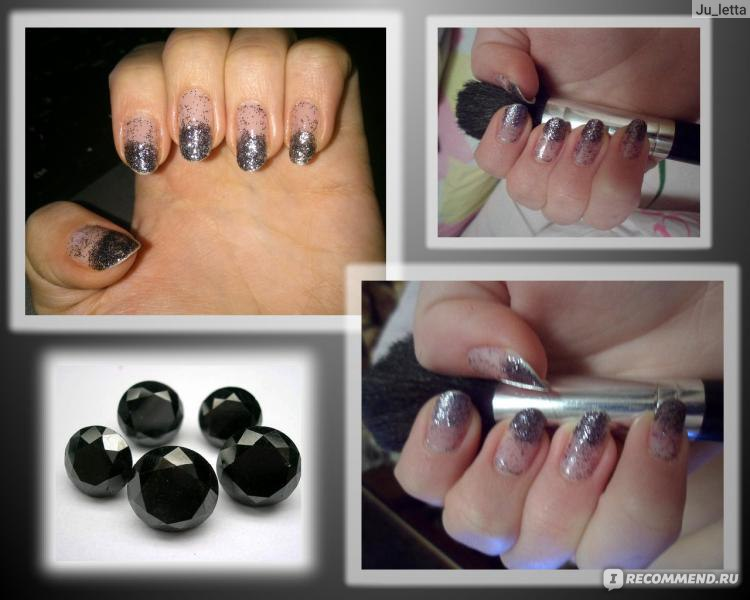 Наносим блестки на свои ногти