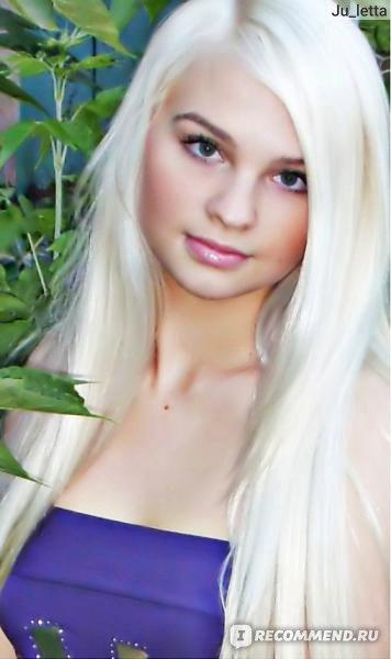 фото блонди в белом