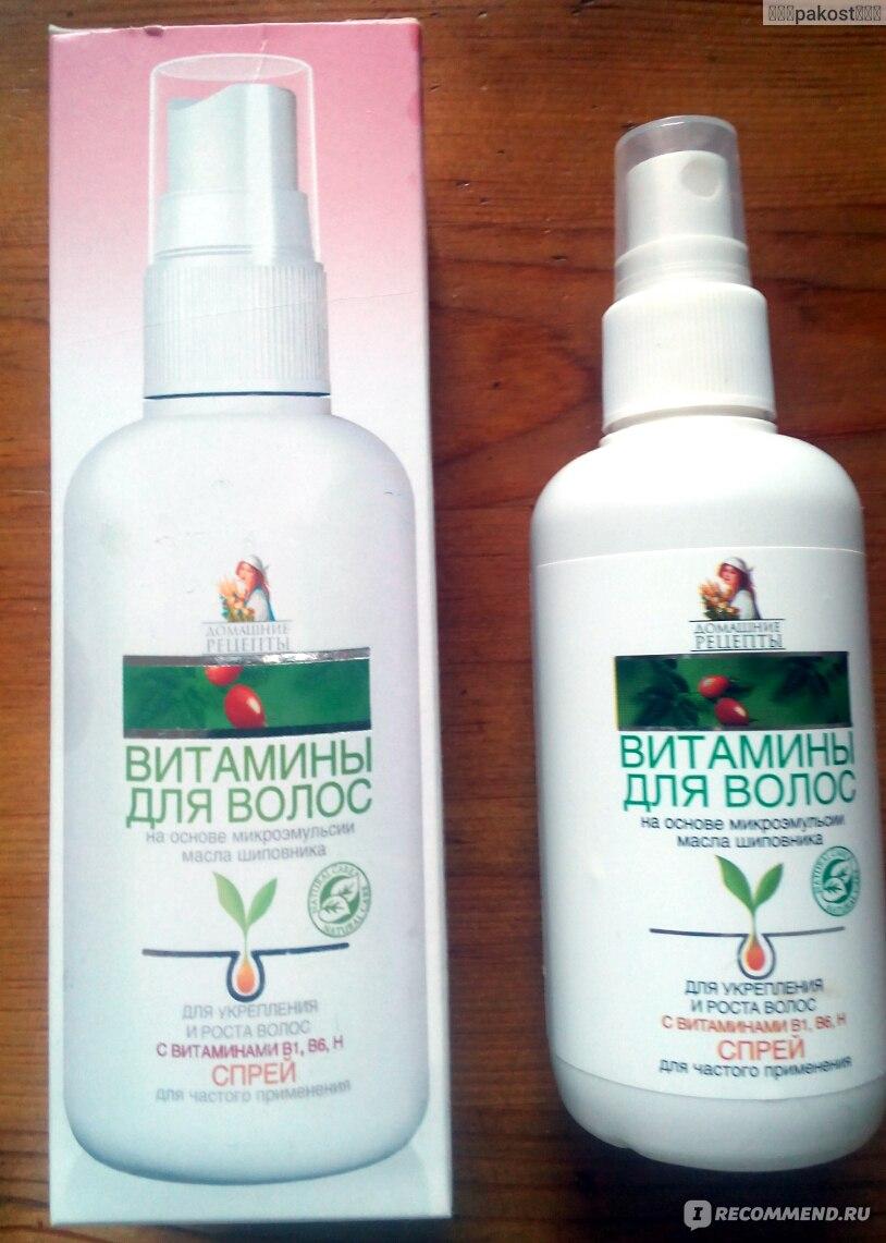 Витаминный спрей для волос – домашние рецепты