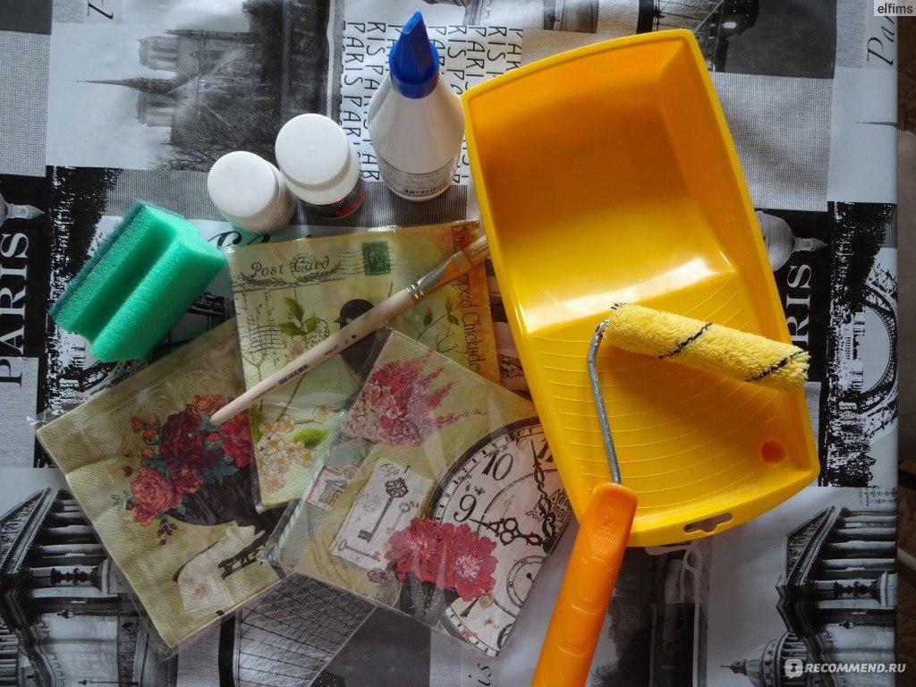 Декупаж — Реанимация старого шкафа с помощью техники декупаж несколько советов, как сэкономить на материалах, Отзывы покупателей 5