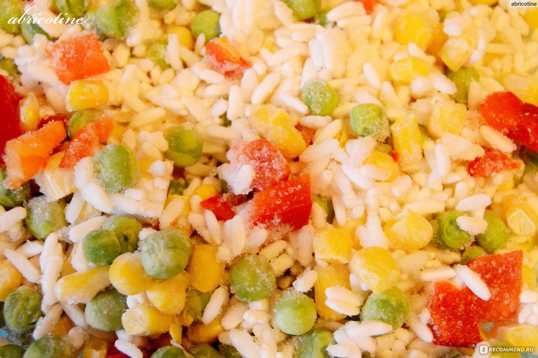 как приготовить гавайскую смесь замороженную с рисом