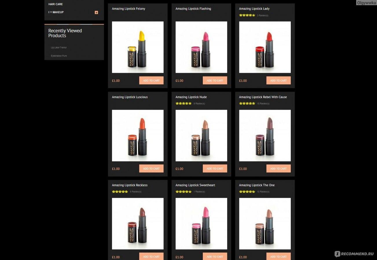 Makeup revolution официальный сайт на