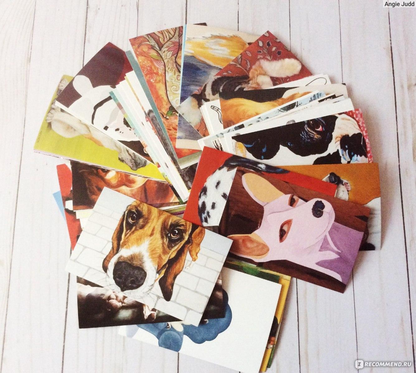 Набор 100 открыток для посткроссинга, рисунки