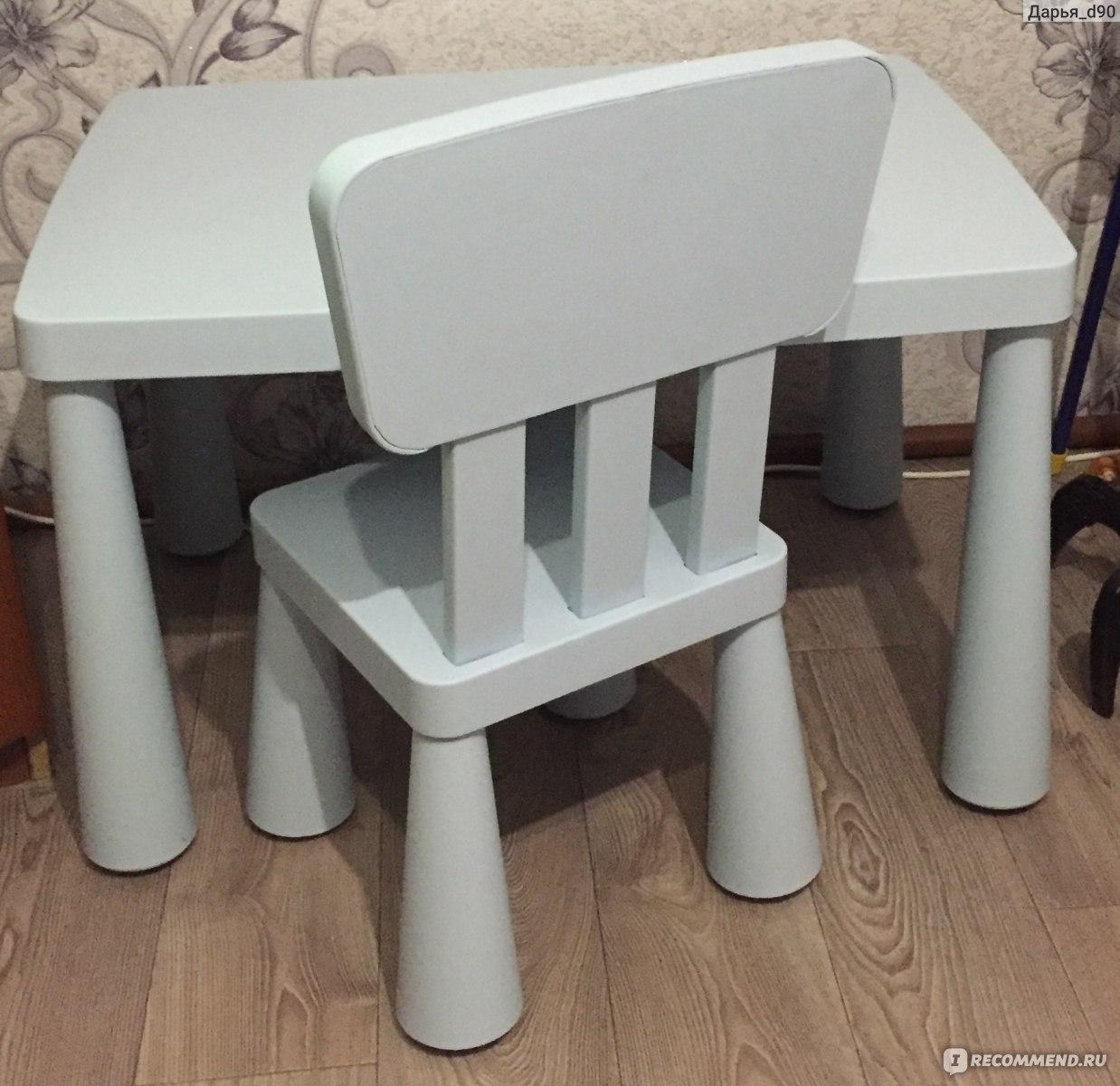 Ikea детские стул и стол серии маммут Ikea стол и стул серии