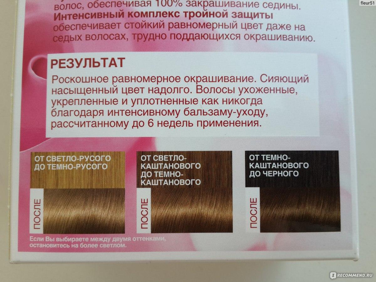 Краска для волос лореаль для закрашивания седины