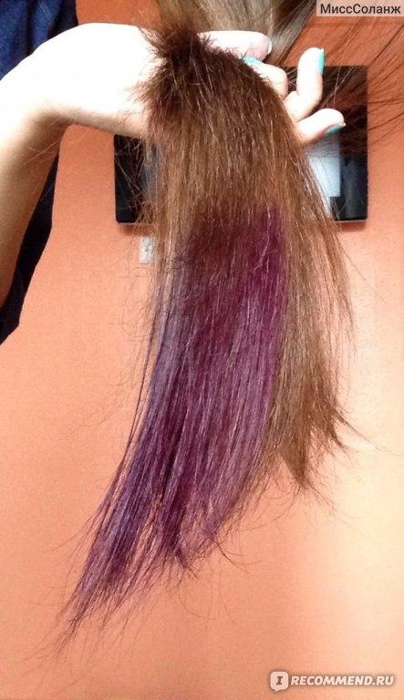 Сиреневые волосы от оттеночного шампуня