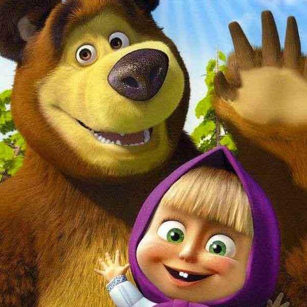 Открытки для, картинки с мультиков прикольные маша и медведь