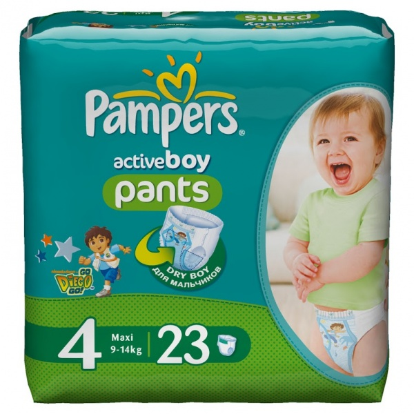 Pampers active fit трусики