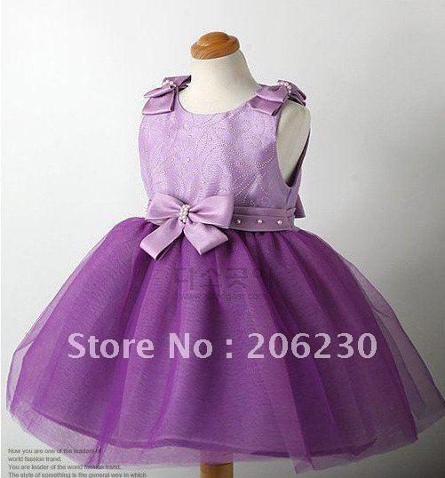 Платье сиреневого цвета для девочки