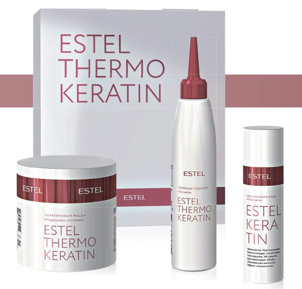 Купить набор для кератинового выпрямления волос эстель