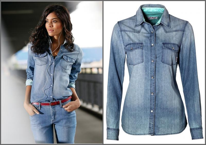 рубашки женские фото джинсовые