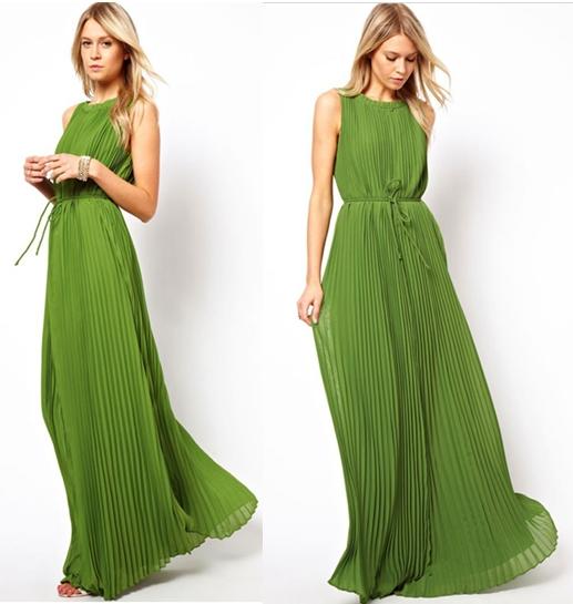 Красивые платья в пол летние