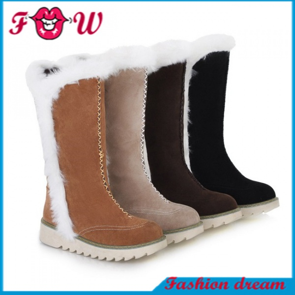 Shoes Long Boots 4colors Big Size34-43 Fur Tassel Winter Women Snow