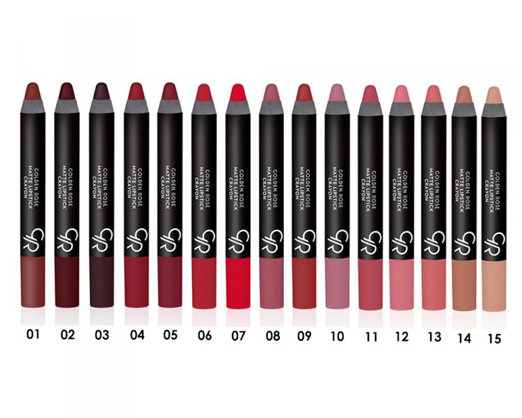 помада карандаш для губ Golden Rose Matte Crayon отзывы покупателей