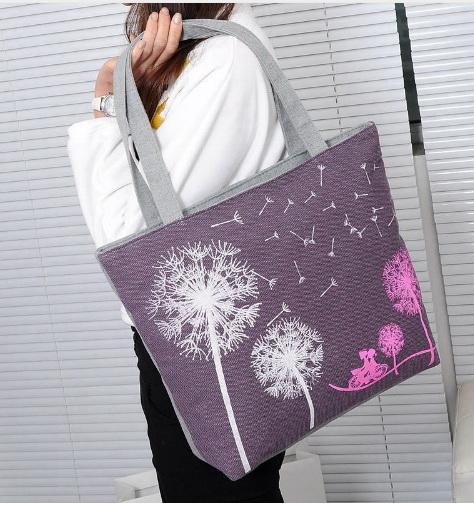 ecf107b9ea7d Сумка Aliexpress пляжная Canvas Women Casual Tote Designer Lady Large Bag  Fashion dandelion Handbags Bolsas shopping bag New Women's Shoulder Bags  M7-353 - ...