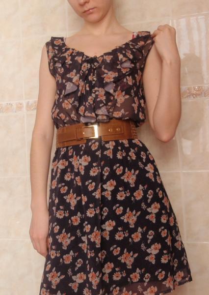 Платье летнее Incity Art 145154433 black-orange